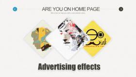 网页广告特效