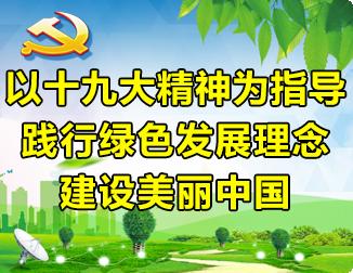 以十九大精神为指导 践行绿色发展理念 建设美丽中国
